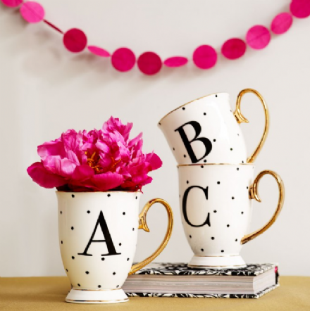 50% off Limited Edition Bombay Duck Alphabet Gold & Black Metallic Mug